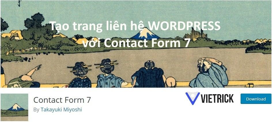 Tạo trang liên hệ wordpress với contact form 7