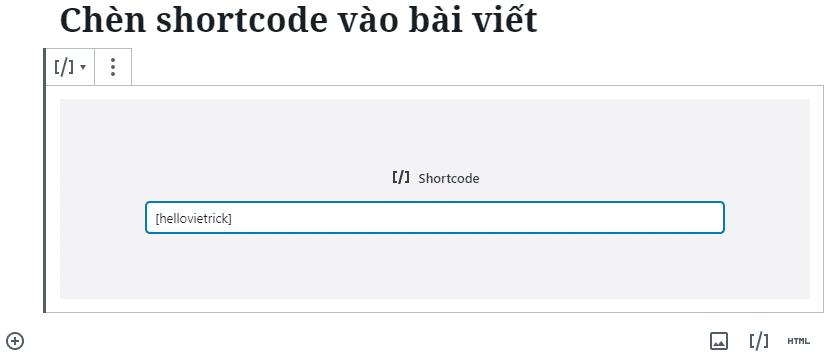 Chèn shortcode vào bài viết