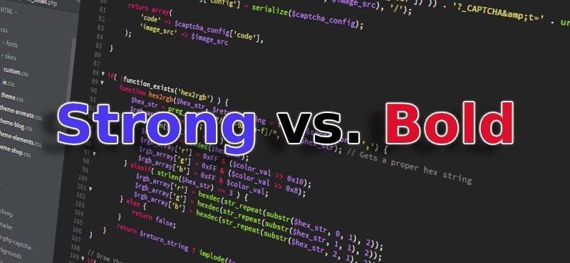 Sự khác nhau giữa thẻ và (bold)