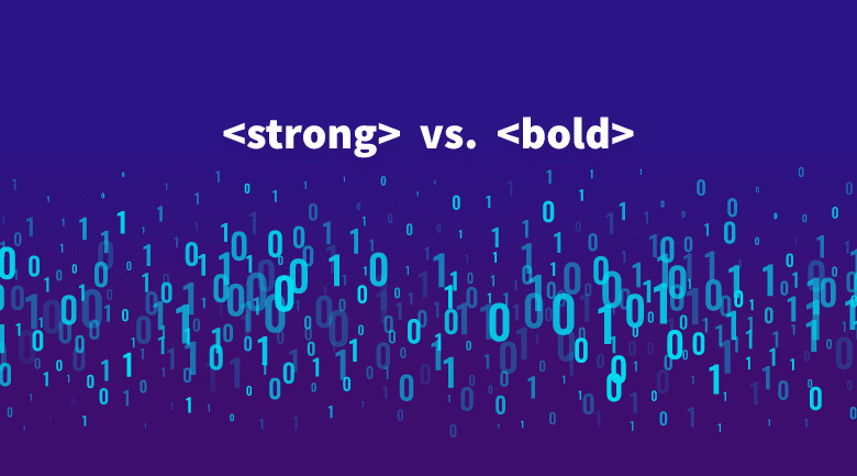 Strong vs. bold