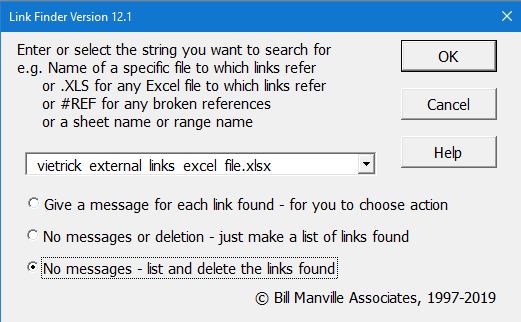 Excel add in Find Link
