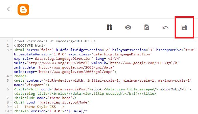 Edit HTML template