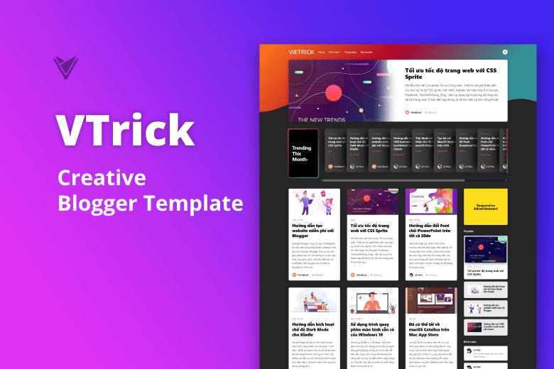 Vtrick – Creative Blogger Template