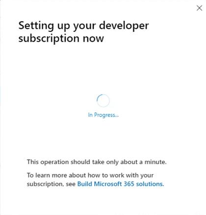 Hoàn tất quá trình cài đặt gói E5 subscription