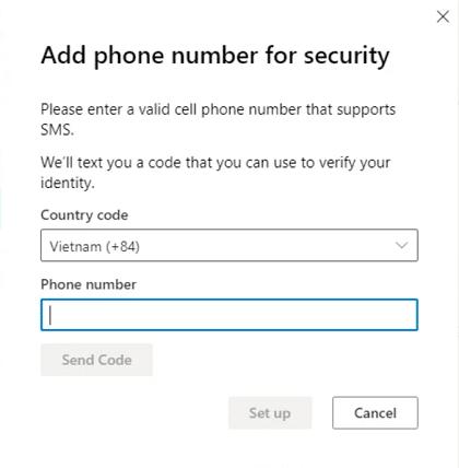 Xác thực số điện thoại